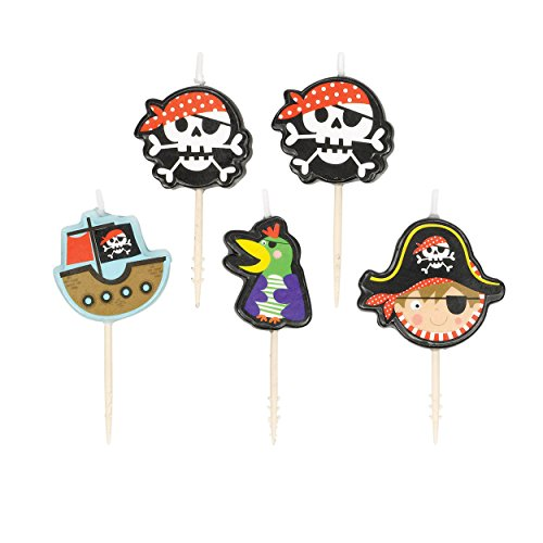 Amscan 171622Bougies Motif pirates 0013051641245