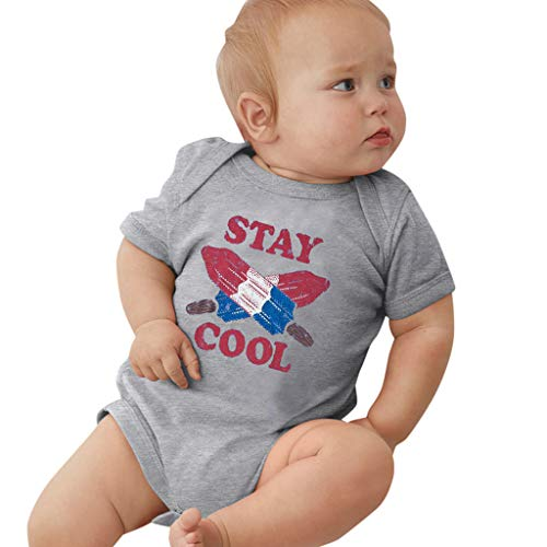 Säugling Strampler Newborn Infant Short Sleeve Bodysuit Letter Print Romper Usa Infant Bodysuit