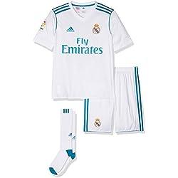 adidas Real Madrid Mini Kit Temporada 2017/2018, Niños, Blanco (BLANCO/AZUINT), 152