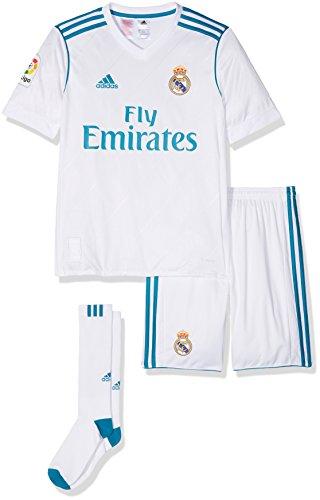 adidas Kinder Auswärtsausrüstung Real Madrid Auswärt Mini Kit, Weiss   (BLANCO/AZUINT), 152