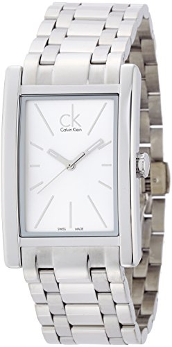 Calvin Klein Reloj Analógico para Hombre de Cuarzo con Correa en Acero Inoxidable K4P21146