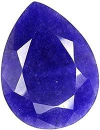 Gemspoint 81. 85ts Naturel Superbe Saphir bleu en forme de poire facettes pierres précieuses