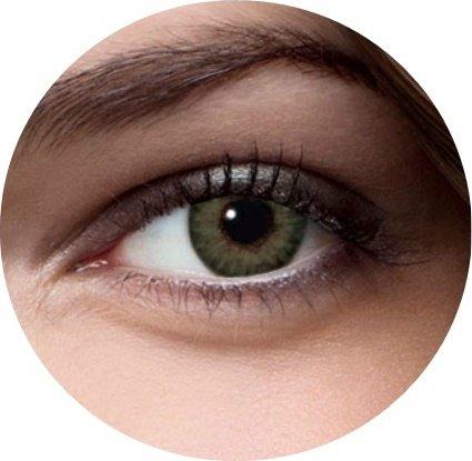 Kostüm Weiche Grüne - Weiche farbige Kontaktlinsen ohne Stärke für Halloween Fasching Party Kostüm und den Alltag (mit Kontaktlinsenbehälter, Grün)