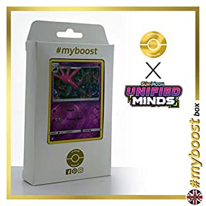 Salazzle 99/236 Holo Reverse - #myboost X Sun & Moon 11 Unified Minds - Box de 10 cartas Pokémon Inglesas