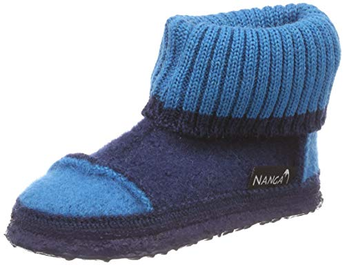 Nanga Unisex-Kinder Tal Hohe Hausschuhe, Blau (Marine 38), 30 EU