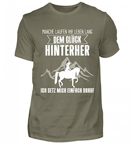 Shirtee Mens Premiumshirt Alta Qualità - Idea Regalo Cavalli Per Cavalli / Fan Equestri · Motivo Cavallo / Slogan · Colori Diversi Grigio Scuro