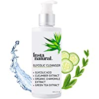 Limpiador Facial Glicólico InstaNatural – Antiarrugas, Líneas Finas, Manchas de Edad e Hiperpigmentación -