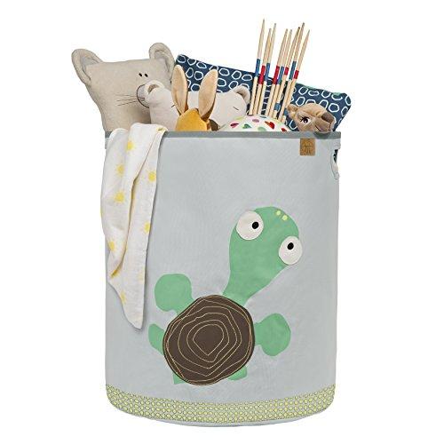 Lässig Storage Toy Basket Spielzeugkorb/Wäschekorb für Kinderzimmer, Wildlife Turtle