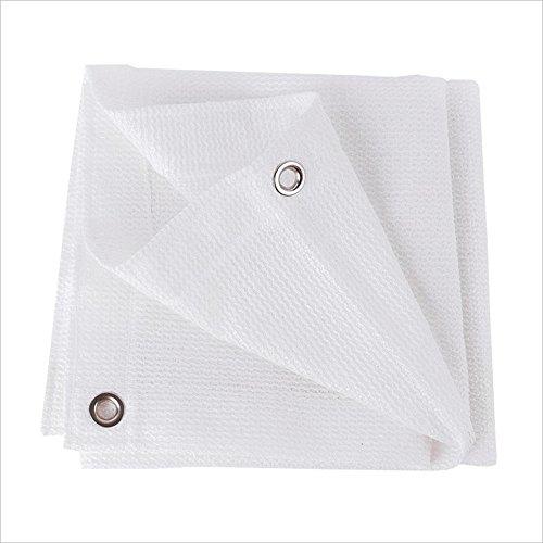 Nan rete ombreggiante bianco 6 pin/schermo solare/crittografia addensata balcone impianto fiore ombreggiatura rete/bordo bianco isolamento rete giardino vele parasole (dimensioni : 3×4m)