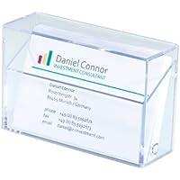 Sigel VA110 Porte-cartes de visite, pour 100 cartes format 8,6 x 5,6 cm, transparent