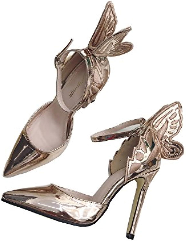 de7123858a49c9 echo woHommes 's talon haut haut haut brodés papillon des sandales, des  sandales pour partie et mariage champagne, 38 b07dkc4rfj parent | Des  Technologies ...