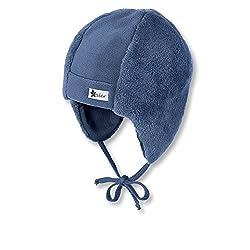 Sterntaler Mütze mit Ohrenklappen und Bindebändern, Alter: ab 4-5 Monate, Größe: 41, Blau (Tintenblau)