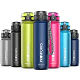 Proworks Leak-Proof Water Bottle | Fast Flow Swing Top Sports Flask ideal for Running, Cycling, Hiking | BPA-Free Tritan Plastic Drinks Bottle - 0.4 Litre (14oz) / 0.5 Litre (18oz) / 1 Litre (36oz)