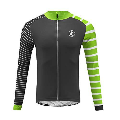 Uglyfrog SJW04 Fahrradtrikot Pro-T - Radtrikot - Jersey - Reißverschluss - Atmungsaktiv - Schnelltrocknend - Reflektoren Langarm Fahrrad -T Shirt Cycling Jersey für Radsport