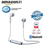 Rewy S6 Bluetooth Headset With 360 Degree Surround Sound With Active Noise Cancellation Technology, Sweatproof Design And Call Reminder Vibration Support Great For Jogging, Gymming And Outdoor Sports Compatible With All Android, Windows And IOS Devices {A
