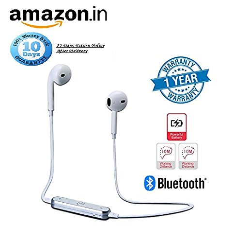 Rewy S6 Bluetooth Headset With 360 Degree Surround Sound With Active Noise Cancellation Technology, Sweatproof Design And Call Reminder Vibration Support Great For Jogging, Gymming And Outdoor Sports