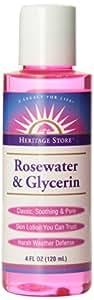 Heritage Store Eau de rose avec glycérine , 120 ml
