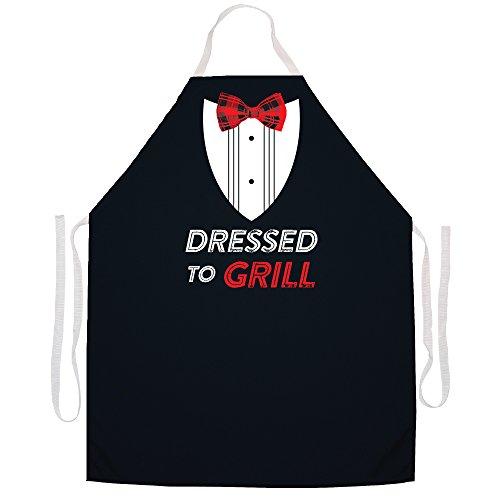 Attitude Schürzen Voll verstellbar Dressed to grill apron-black Zu Hause Koch