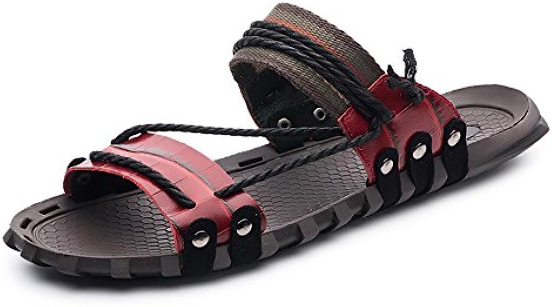 Melodycp Flip Flops für Den Strand  Rot Schuhe für die Gemütliche Glasschuhe Rote (24.0  28.5 cm) 44 EU Rot