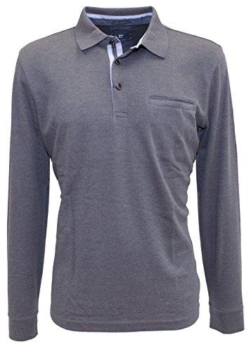 "Pierre Cardin ""Premium Cotton"" Langarm Polo-Shirt in 5 Farben Grau"