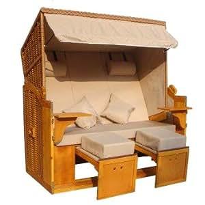 brubaker scharbeutz strandkorb xxl 3 sitzer polyrattan 160 cm komfortbreite. Black Bedroom Furniture Sets. Home Design Ideas
