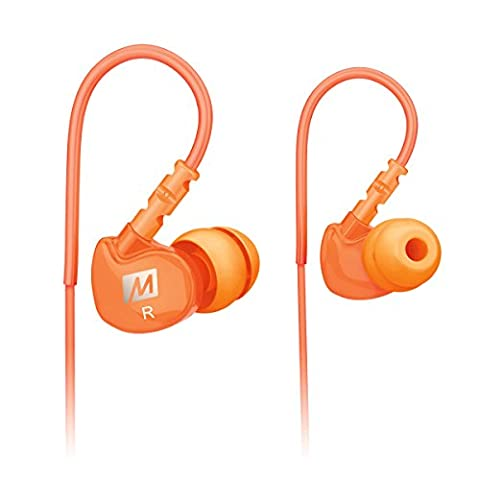 MEE audio Sport-Fi M6 Écouteurs intra-auriculaires à isolation acoustique et fils mémoire Orange