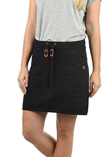 Blend She Jill Damen Kurzer Rock Sweatrock Minirock mit Kordelzug und Eingriffstaschen, Größe:M, Farbe:Black (20100) (Jersey Absolute)