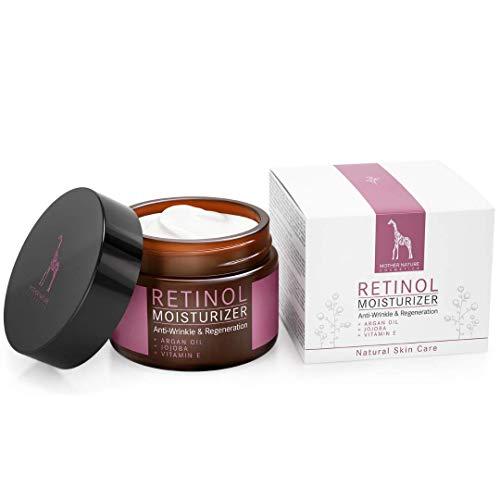 Retinol Crème – Mother Nature® | Anti-Aging | Feuchtigkeitsspender Gegen Trockene Haut & Altersanzeichen | Hautstraffung & Hautregeneration Für Pralle, Jugendliche Haut | Inklusive Hyaluronsäure - 3