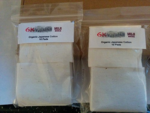 Authentic MUJI Japanese Organic Cotton Pads Unbleached Untreated Wick RBD RDA Tanks (10 pads) by MUJI by Wizard Vapes