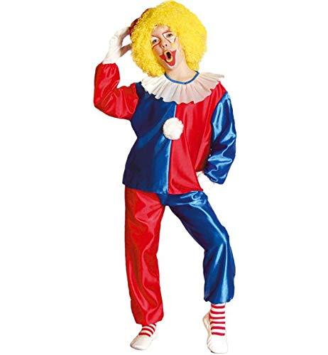 erkostüm Clown 2-TLG. bestehend aus Hose und Oberteil Clown Spaß Fun Zirkus Maskenumzug (152) ()