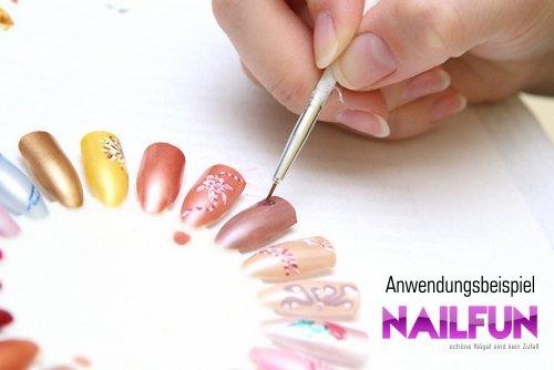 3 Stück Präsentationsdisplay / Farbrad / Tip-Rondell natur mit je 20 Nägeln zum bemalen mit UV-Gel / Nailart - 2
