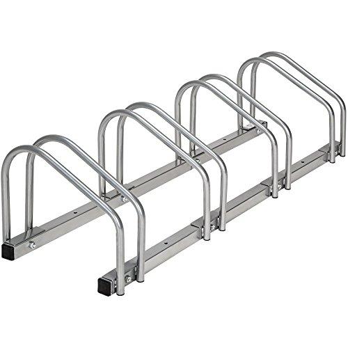 Preisvergleich Produktbild TecTake Fahrradständer Fahrradparker für 4 Fahrräder Bike Fahrrad Ständer Rad außen | (LxBxH) 100 x 28,5 x 26 cm