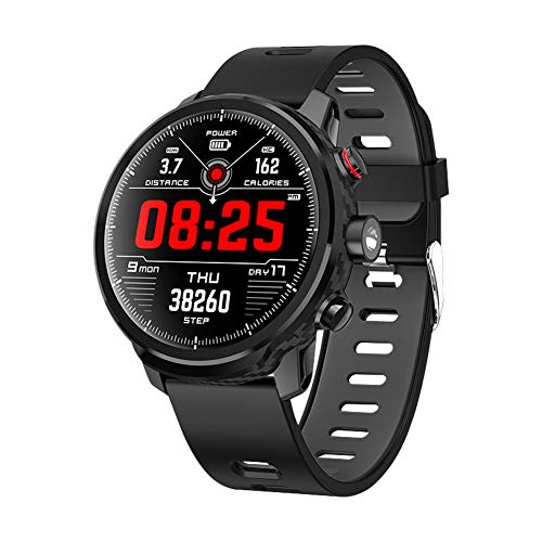 Qimaoo Smartwatch, L5 Smart Watch Fitness Uhr IP68 wasserdicht 1.3 Zoll BT4 Fitness Tracker mit Pulsmesser Aktivitätstracker Kalorienzähler Schrittzähler Kompatibel mit iOS Android für Herren Damen