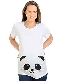 Binhee Camiseta De Maternidad Imprimir Panda Temporada De Verano Mangas Cortas Para Mujeres Embarazadas Tamaño Grande