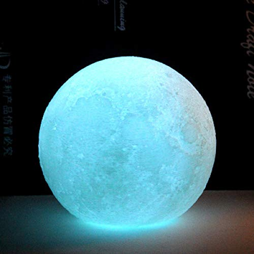 Silicone 3D Printing Led Moon Energy Saving Night Light Color Bedside Lamp Christmas Gifts Light Green 11 * 11 * 10.5Cm Batterie, Tactical Pocket Light
