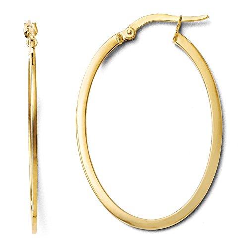 Preisvergleich Produktbild Leslies 10K Gelb Gold Poliert Oval Scharnier Creolen TB02