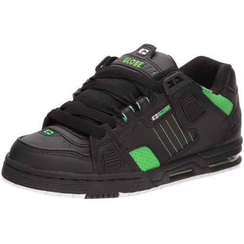 Globe Sabre, Chaussures de skateboard homme, Noir (10768 Black/Moto Green), 43 EU
