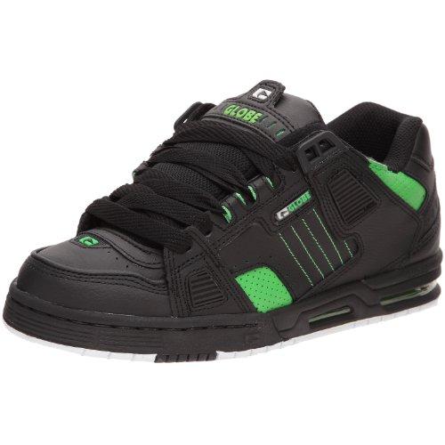 Globe Sabre - Scarpe Da Skateboard Unisex Adulto, Nero (Black/Moto Green), 42