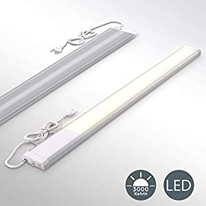 B.K.Licht I LED Unterbauleuchte I Werkstattlampe I inkl. 10W LED Platine 1100 Lumen I Länge: 57,5cm I 3.000K warmweiße…
