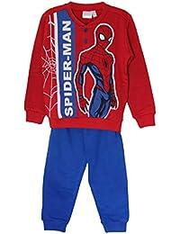 Marvels Spider-Man Felpa Pijama Conjunto de Camisa, Pijama con Mangas largas y Mangas largas Ropa de Dormir, Ropa de salón para Chicos