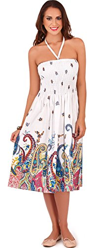 Stunning Ladies 3 in 1 Halter Neck Or Strapless Summer Dress/Long Skirt, Various Floral Styles