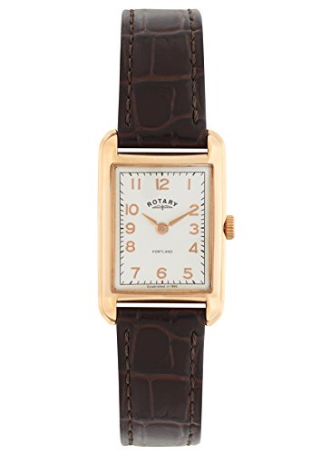 Rotary Watches Damen-Armbanduhr Portland Analog Quarz Leder LS02699/01