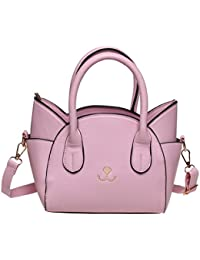Fashion Road Handbag For Women, Cute Cat Top Handle Tote Bag, Girls Leather Satchel Cross Body Shoulder Bag With...
