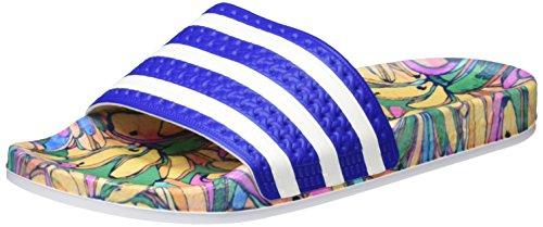 adidas Damen Adilette Slipper Dusch-& Badeschuhe,Blau (Lab Blue/Ftwr White/Lab Blue), 37 EU