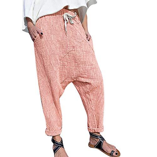 SSUPLYMY Damen Hose Oversize Harem Hose Lose Breite Beine Hose Yoga Workout Gym Leggings Sporthose Mode Stretch Pumphose Taille Lange Hosen Elegante Hosen Einteiler aus Baumwolle -