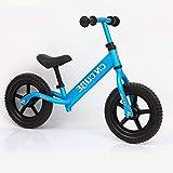 Biciclette senza pedali Equilibrio di Bambini,Camion di Scorrimento Scooter Ruote Doppie Nessun Pedale 2-6 Anni-Blu 32.3inch