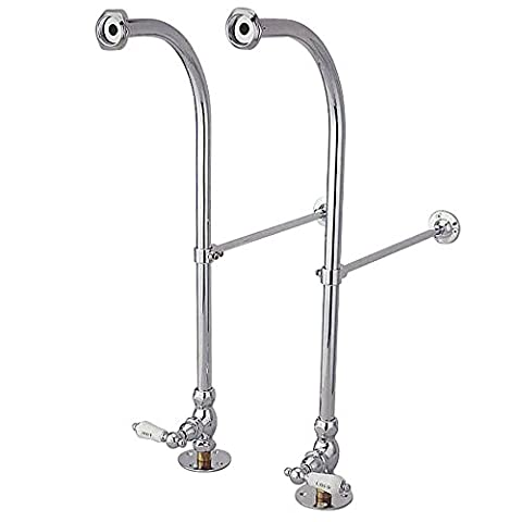 Kingston Brass Cc451Hcl Vintage Freestanding Water Supply With Stop, Adjustable Height Wall Brace, C