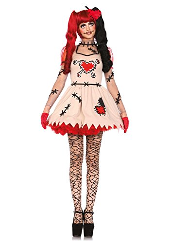 Dress Stich Fancy Kostüm - Leg Avenue 85434 - Voodoo Cutie Kostüm, Größe XS  (EUR 32-34)