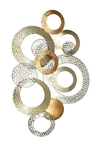 Formano Extravagante Wanddeko Industrial Design - Moderne Wanddekoration aus Metall Champagner/Gold/Silber 76x48cm Groß