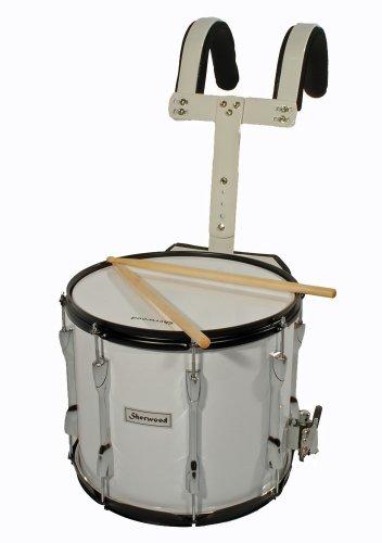 """MPM Marsch-Snare, Marching Drum 35x30cm (14\""""x12\""""), weiß"""